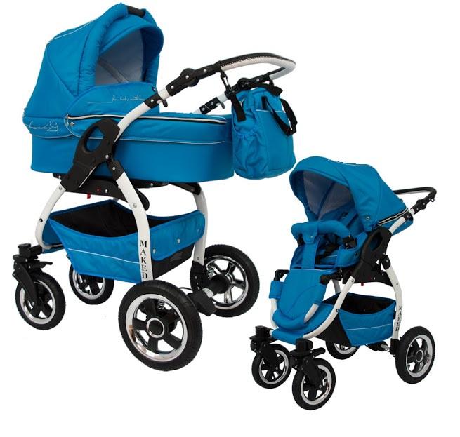 kombi kinderwagen lucky multifunktionell blau. Black Bedroom Furniture Sets. Home Design Ideas